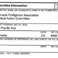 The Alameda firefighters political committee spent over $42,000 in 2012.