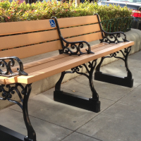 The City of Alameda has installed four new benches on Park Street. (City of Alameda)