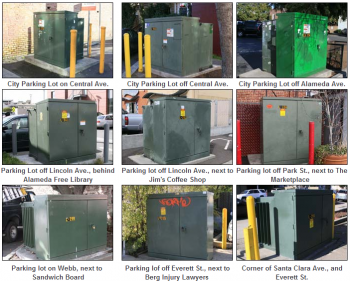 Alameda Municipal Power is asking for submissions to beautify downtown utility cabinets. (Alameda Municipal Power)