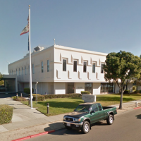 The George E. McDonald Hall of Justice on Shore Line Drive in Alameda. (Google Street View)